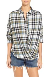 Women's Bp. Twist Front Plaid Shirt