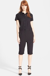 Marc By Marc Jacobs Crop Jumpsuit Black