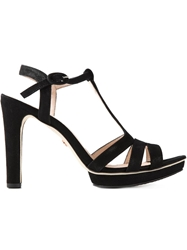 Repetto Strappy T Bar Sandals Black