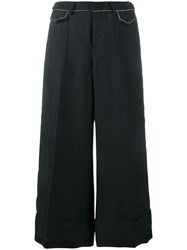 N 21 No21 Studded Crop Trousers Blue