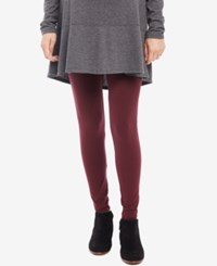 Motherhood Maternity Leggings Pinot Noir