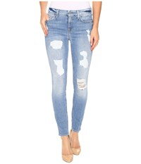 7 For All Mankind The Ankle Skinny With Destroy In Light Wash Light Wash Women's Jeans Blue