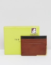 Ted Baker Cardholder With Metal Corner Tan