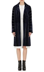 J. Mendel Women's Mink Fur Long Coat Navy