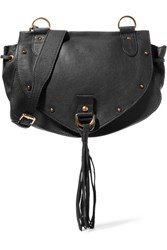 See By Chloe Collins Medium Textured Leather Shoulder Bag Black