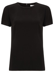 Boss Logo Boss Scoop Neck Top Black