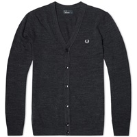 Fred Perry Budding Yarn Tipped Cardigan Blue Granite