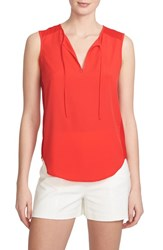 Women's 1.State Tie Front Sleeveless Top