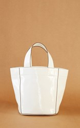 Trademark Simone Patent Tote Light Blue
