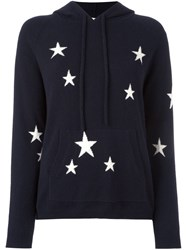 Chinti And Parker Star Intarsia Hooded Sweater Blue