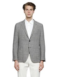 Lardini Linen Blend Prince Of Wales Jacket