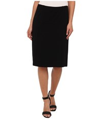 Nic Zoe New Ponte Flirt Skirt Black Onyx 2 Women's Skirt