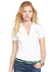 Polo Ralph Lauren Julie Skinny Fit Stretch Shirt White