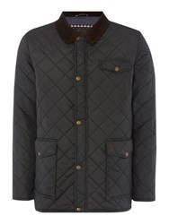 Merc Men's Alcester Full Zip Quilted Jacket Black