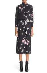 Marc Jacobs Women's Tie Neck Ballerina And Floral Jacquard Dress