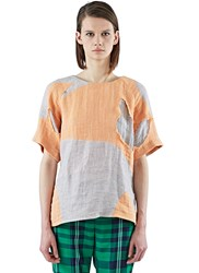 The Autonomous Collections Boxy Patchwork T Shirt Orange