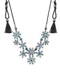 Lonna And Lilly Blue Flower Bib Slider Necklace
