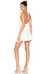 J.O.A. Sleeveless Halter Neck Lace Dress White