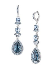 Givenchy Camille Imitation Rhodium Plated Linear Drop Earrings Silver