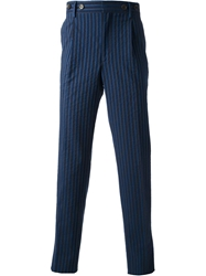 Andrea Incontri Pinstriped Trousers Blue