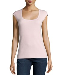 Michael Kors Cashmere Cap Sleeve Top Blush