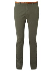 Scotch And Soda Stuart Peached Twill Chinos Grey