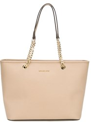Michael Michael Kors 'Jet Set Travel' Chain Tote Nude And Neutrals