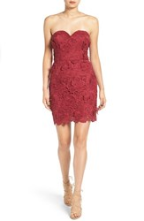 As U Wish Women's Secret Charm Strapless Lace Sheath Dress