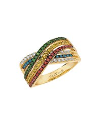 Le Vian Exotics Multi Colored Diamonds And 14K Honey Gold Ring