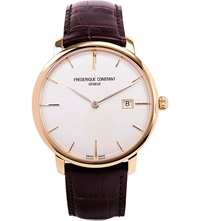 Frederique Constant Fc 306V4s5 Slim Line Automatic Watch Gold