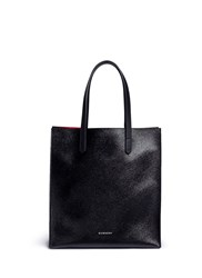 Givenchy 'Stargate' Medium Faux Saffiano Leather Tote Black