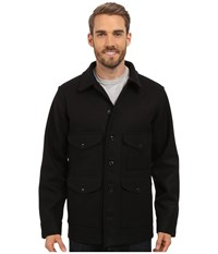 Filson Wool Mackinaw Cruiser Black Men's Coat