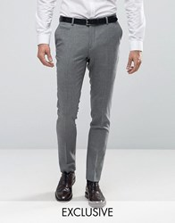 Number Eight Savile Row Skinny Smart Trouser In Check Soft Green