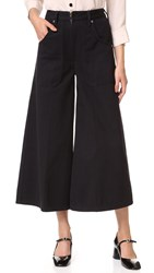 Marc Jacobs Patch Pocket Culotte Jeans Black