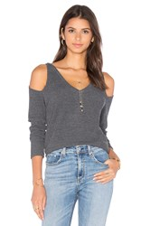 Lna Nix Long Sleeve Top Charcoal
