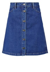 Only Onlfarrah Denim Skirt Dark Blue Denim