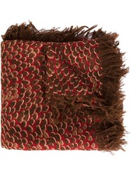 Chloe 'Animal' Scarf Brown