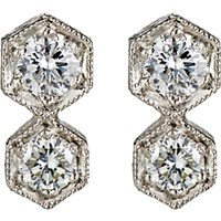 Cathy Waterman Women's Double Hexagon Stud Earrings No Color