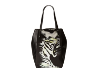 Just Cavalli Tiger In Love Printed Fabric Tote
