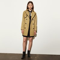 Coach Cotton Convertible Trench Khaki