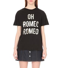 Wildfox Couture Oh Romeo Romeo Cotton T Shirt Black
