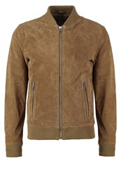 Freaky Nation Ted Bomber Jacket Cognac