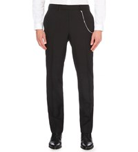 The Kooples Staight Leg Wool Trousers Black