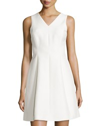 Halston Sleeveless Fit And Flare Dress Bone