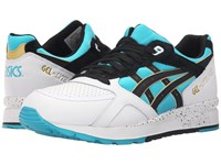 Asics Tiger Gel Lyte Speed Peacock Blue Black Leather Pig Skin Suede Shoes White