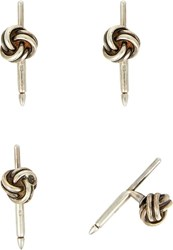 Barneys New York Knotted Silver Shirt Stud Set Colorless