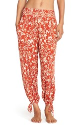 Women's Robin Piccone 'Flora Vine' Print Cover Up Pants Paprika Cream