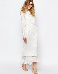 Stevie May Clear Array Maxi Dress In White White