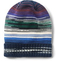 Missoni Space Dyed Wool Blend Beanie Navy