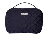 Vera Bradley Large Blush Brush Makeup Case Classic Navy Cosmetic Case